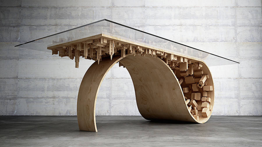 Wave City Dining Table (4 pics)