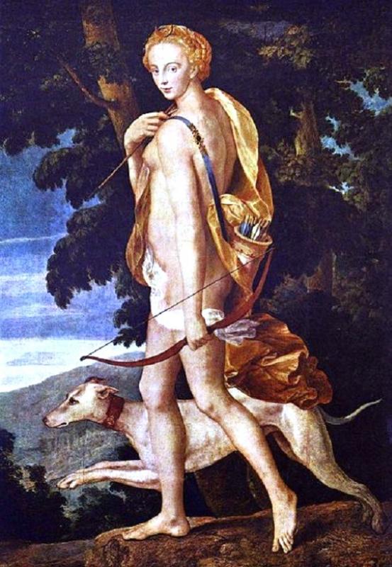 1550 Meister der Schule von Fontainebleau Diana the Huntress.jpg
