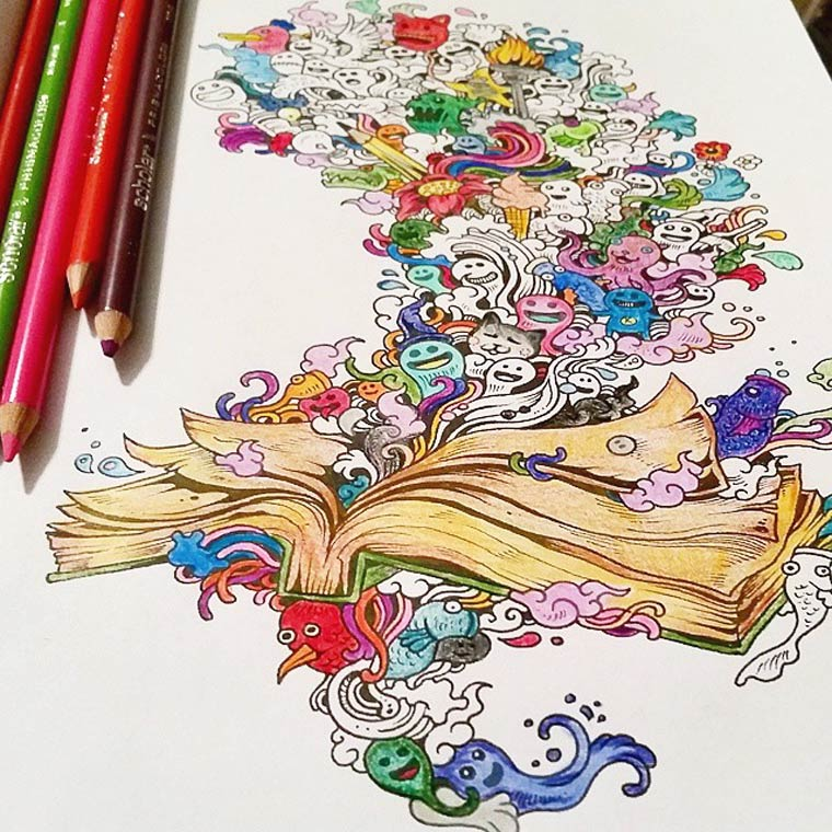 Doodle Invasion - Un nouveau livre de coloriage pour les adultes