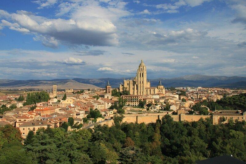 Испания, Сеговия - вид с Алькасара (Spain, Segovia - view from the Alcazar)