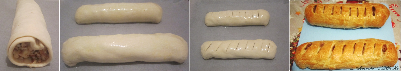 Рецепт яблочного рулета из слоеного теста