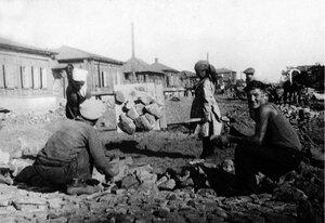 Челябинск. Благоустройство города. Булыжное мощение улицы Миасской. 1935
