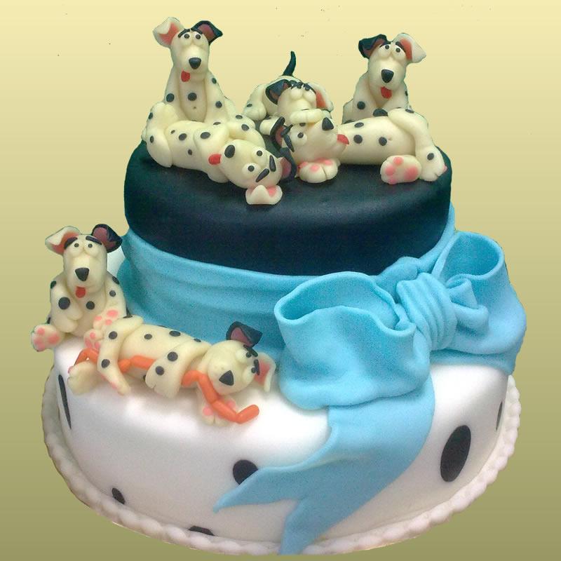 День кондитера! Торт для ребенка с собачками открытки фото рисунки картинки поздравления