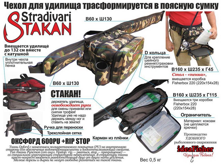 Купить ideaFisher Stakan Stradivari поясная сумка с чехлом для удилища
