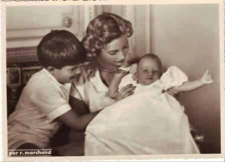 Жозефина Шарлотта, Александр и Мария Кристина. 1951 г.