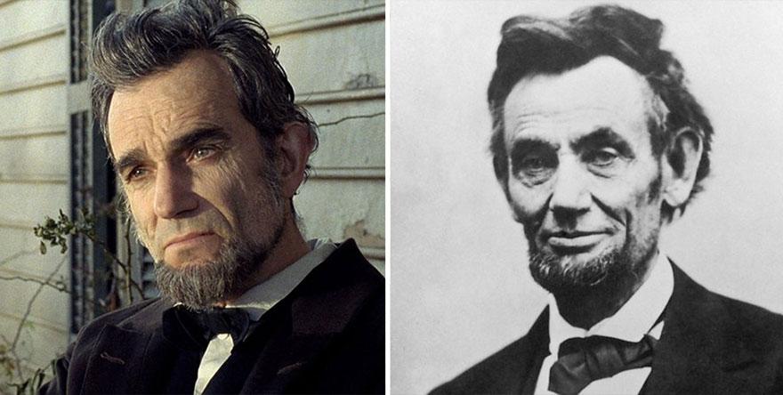 Дэниэл Дэй-Льюис в роли Авраама Линкольна, «Линкольн».