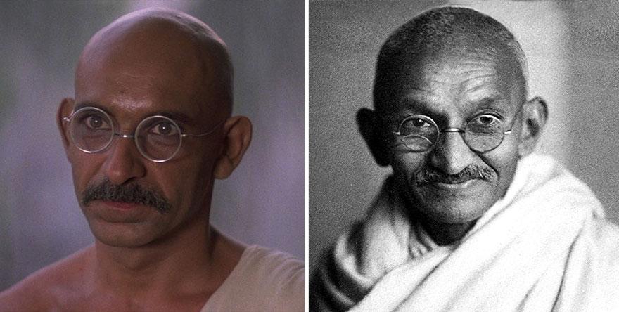 Бен Кингсли в роли Махатмы Ганди, «Ганди».