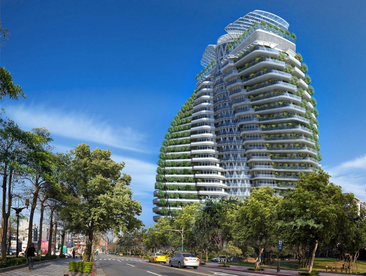 Tao Zhu Yin Yuan (Тайбэй, Тайвань). Проектирование — Vincent Callebaut Architecture. Высота — 93 мет