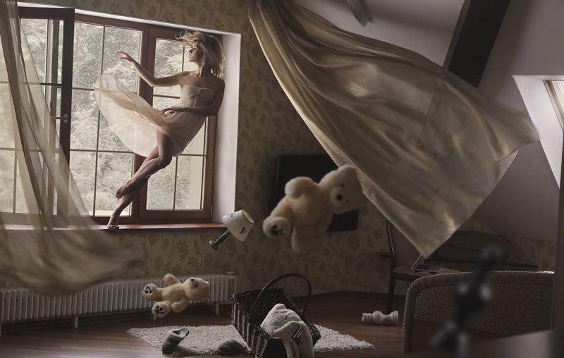 Полёт фантазии: бросающие вызов гравитации фотографии Равшании Азулэ