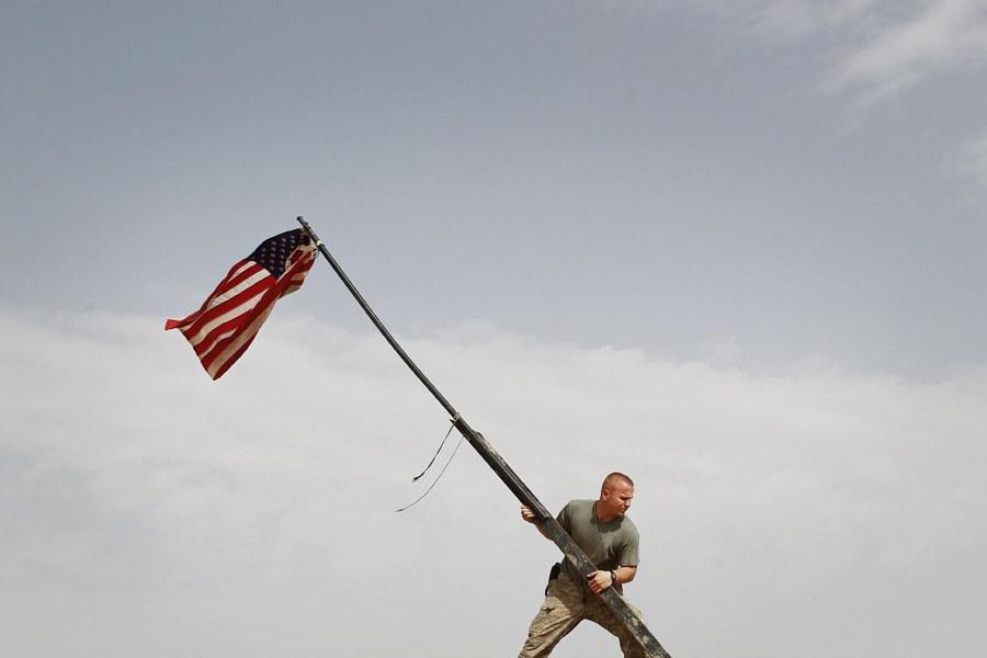 Солдат из подразделения Dustoff, которое занимается, в том числе, эвакуацией раненых в южной ча