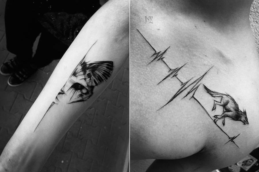 Impressive Black and White Sketch Tattoos (11 pics)