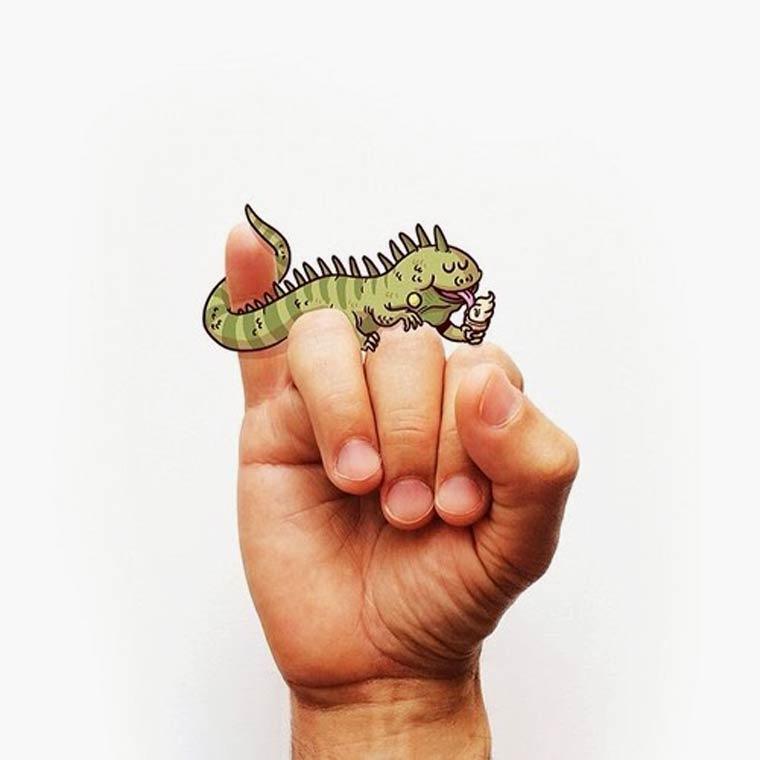 Langue des signes - Un adorable alphabet illustre par Alex Solis