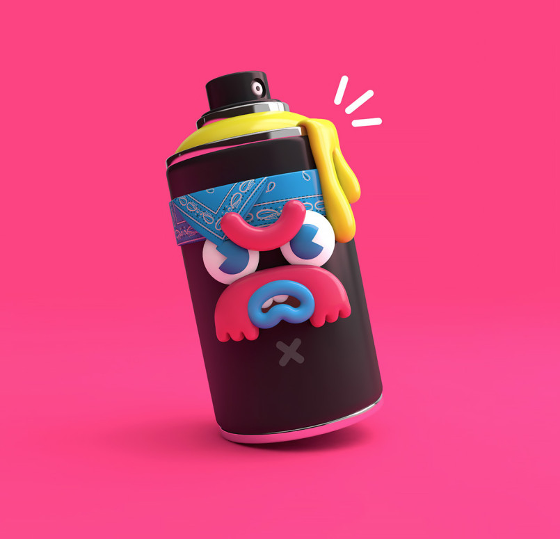 New 3D Illustrations by El Grand Chamaco