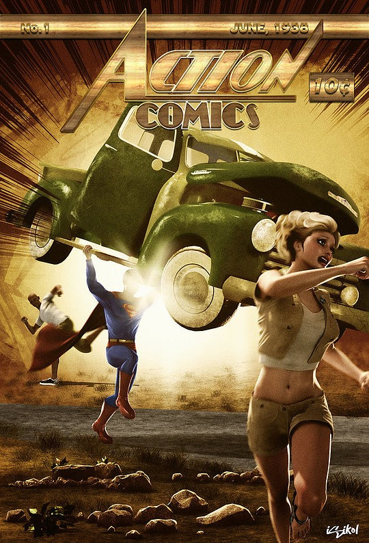 3d Comic Art by Isidore Koliavras