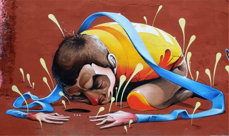 El secreto - Le street art par Isaac Mahow