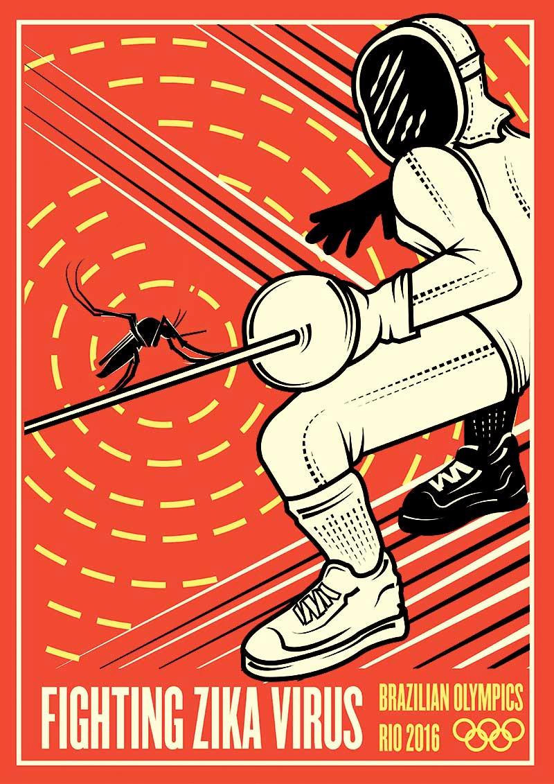 Posters com novas modalidades olimpicas por Pietro Luigi