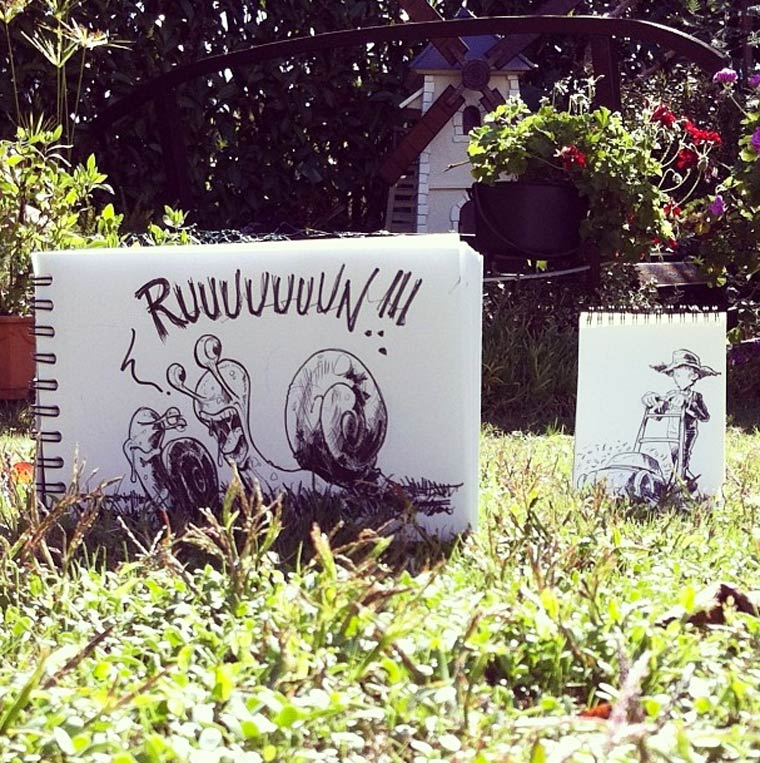 Cartoonbombing - Quand un illustrateur incruste ses creations dans la realite…