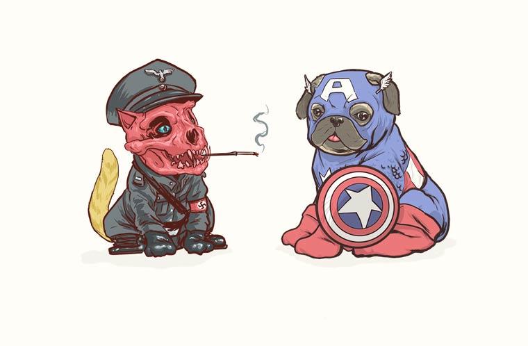 Marvel Dogs - Quand un illustrateur transforme les super-heros en chiens
