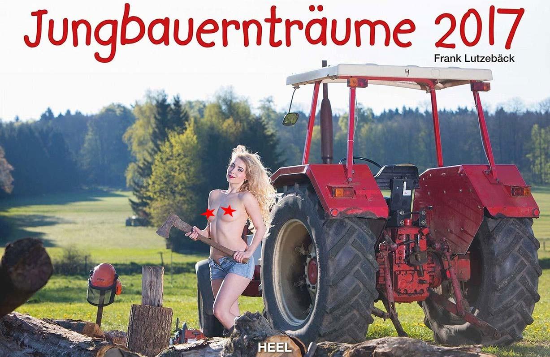 Девушки и трактора в эротическом календаре 2017 / Jungbauerntraume calendar 2017