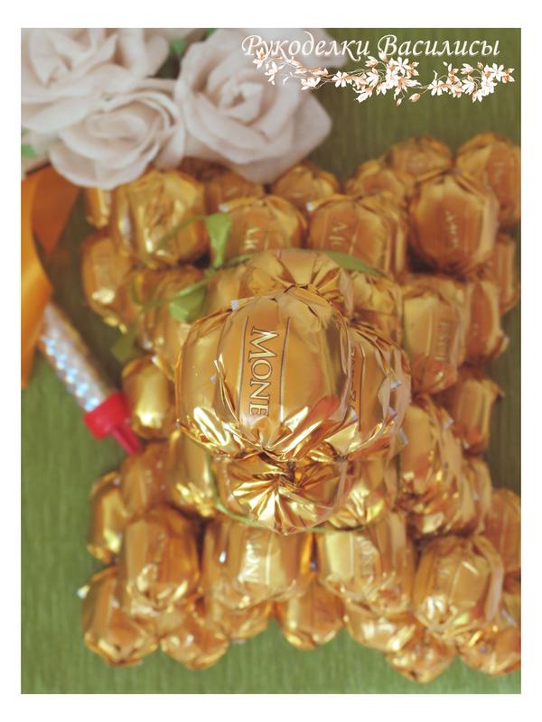 свит-дизайн, handmade, handwork, букет из конфет, оригинальные подарки, оформление подарка, подарки, рукоделки василисы, ручная работа, эйфелева башня из конфет