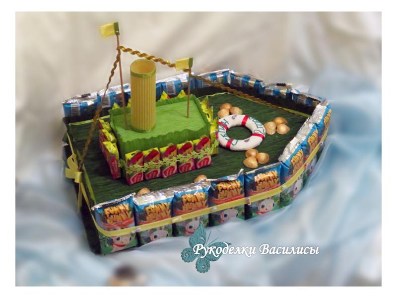 handmade, handwork, букет из конфет, оригинальные подарки, оформление подарка, подарки, праздник, ручная работа, свит-дизайн, творчество, торт из сладостей, угощение в детский сад