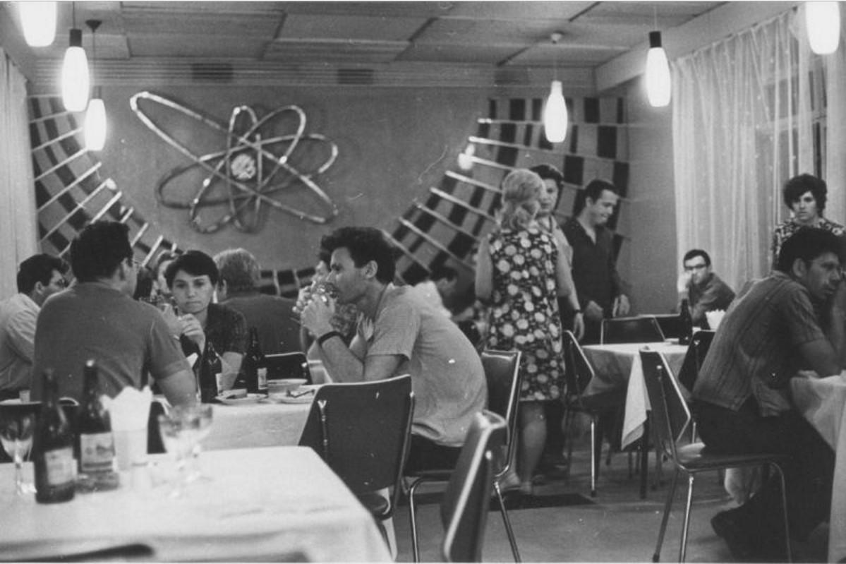 1970. Буфет в Институте физики высоких энергий в Протвино