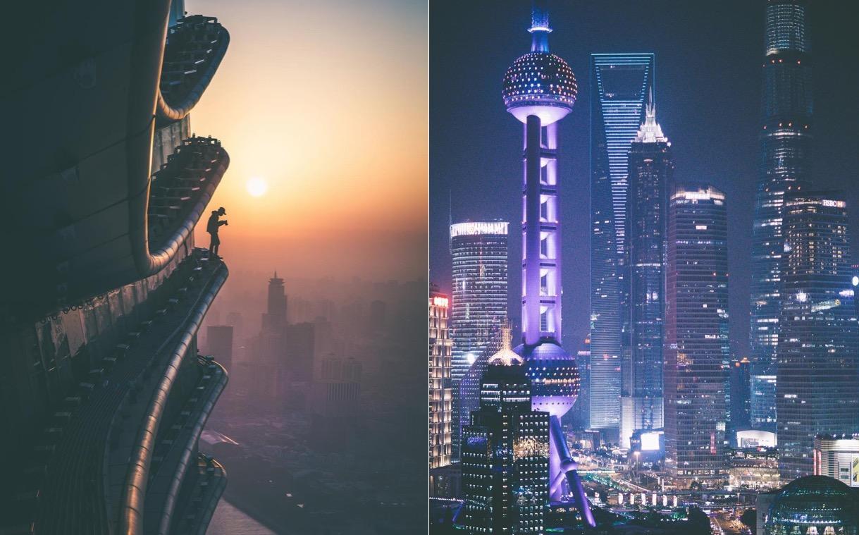 Головокружительные виды Шанхая c высоты небоскрёбов