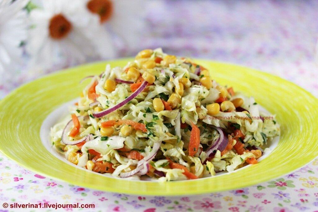Салат с кукурузой маслом