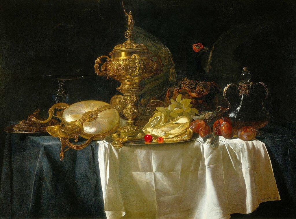 Натюрморт с фруктами и посудой. 1653. 77х102.  Гал Палатина Флоренция.jpg