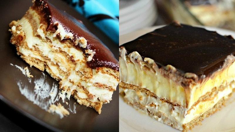 Рецепт торта-эклера без выпечки! (1 фото)