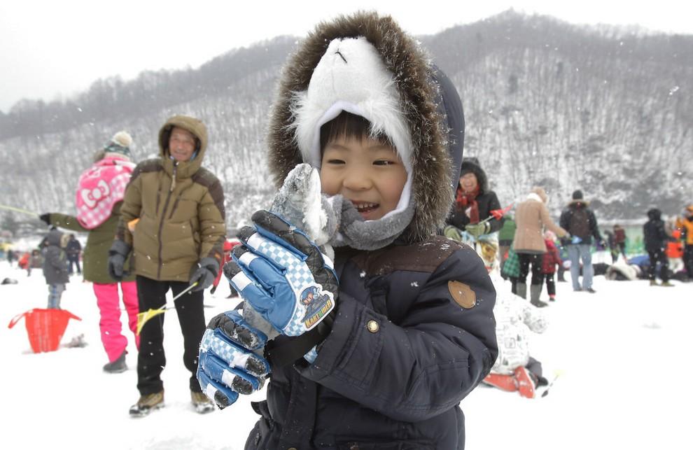 В Южной Корее стартовал популярнейший зимний фестиваль