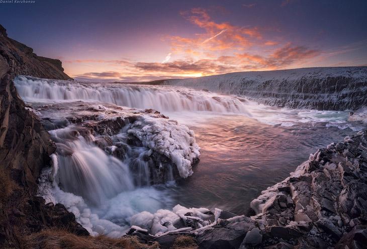 Фотографии Даниила Коржонова   Вот она, земля вулканов и лавовых полей, такая вот зима... Вз