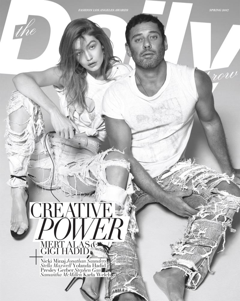 Джиджи Хадид и Мерт Алас на обложке The Daily Front Row
