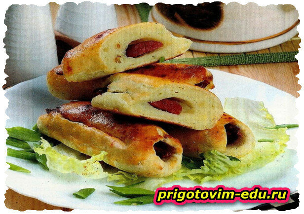 Картофельные палочки с колбасой внутри