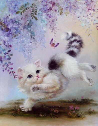 Китайская живопись. Кошки и котята