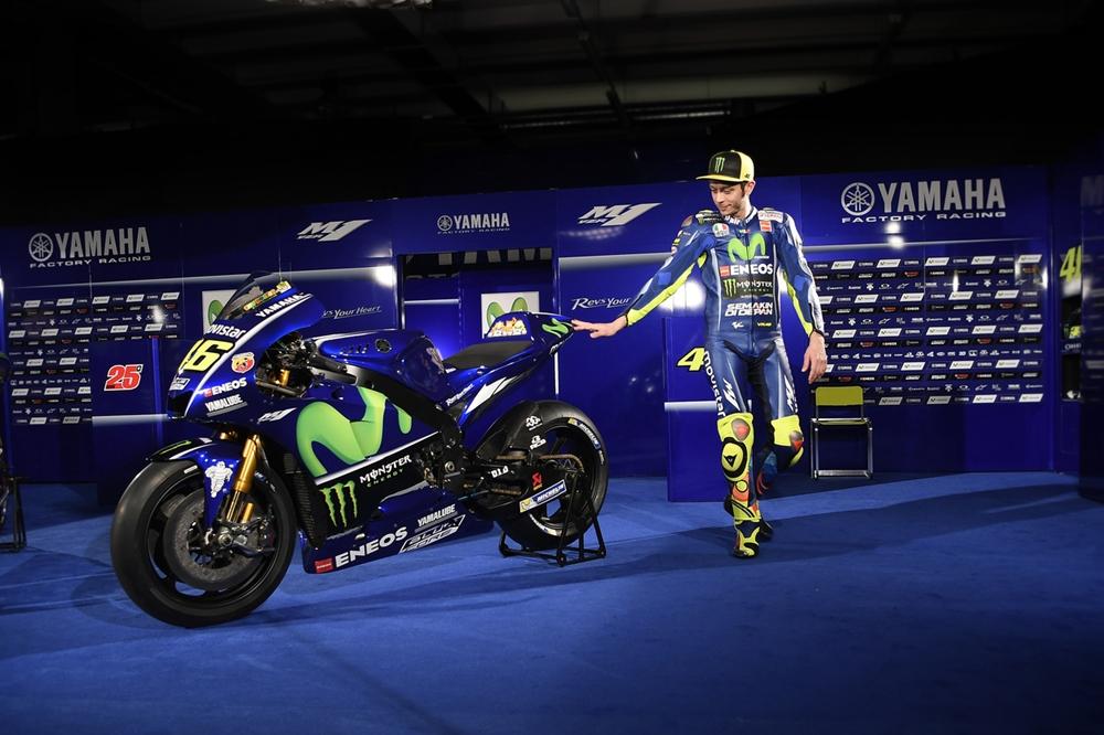 Презентация команды Movistar Yamaha 2017: Валентино Росси и Маверик Виньялес