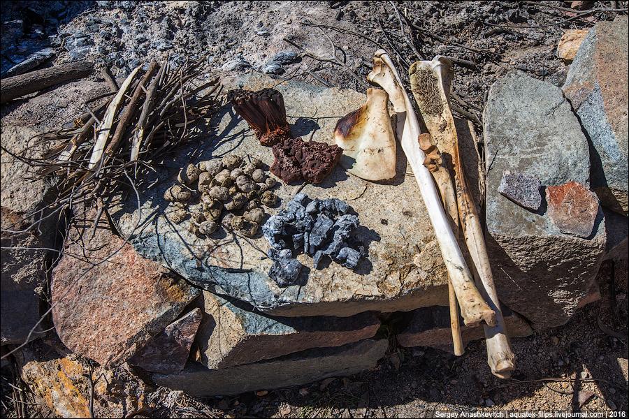 Топор из костей кенгуру, говна кенгуру, золы и смолы