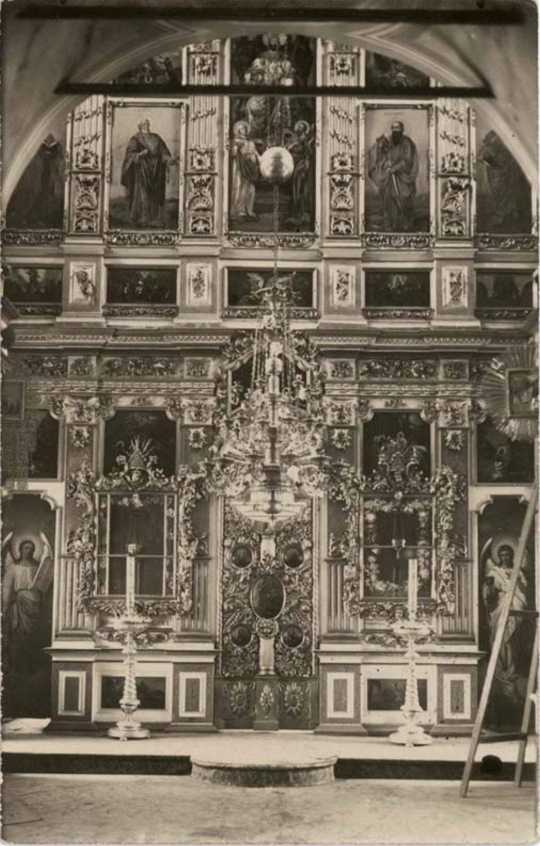 Сергиевская церковь 1779 г. Иконостас холодной Сергиевской церкви