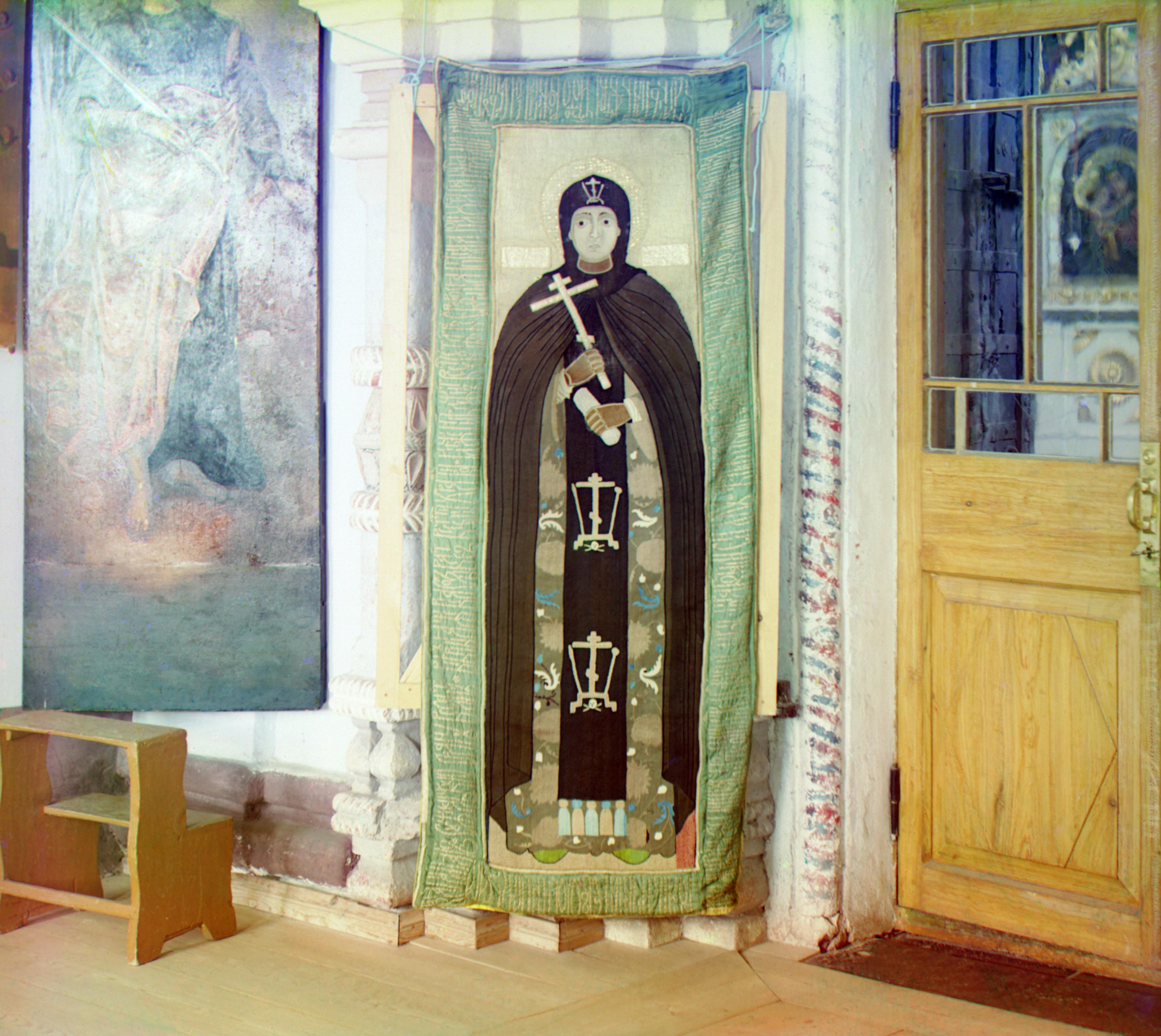 Преподобенский монастырь. Пелена с изображением Преподобной Евфросинии Суздальской