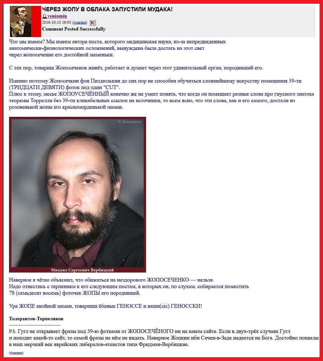 Петрухин, Комментпуб, Вербицкий, ЛЖР, Подляна