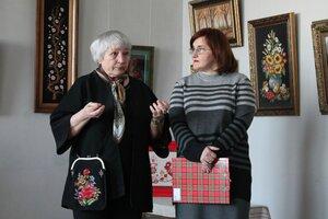 21 марта в Унечской картинной галерее прошла встреча с народным мастером художественной вышивки Беликовой Марией Максимовной (г. Почеп)