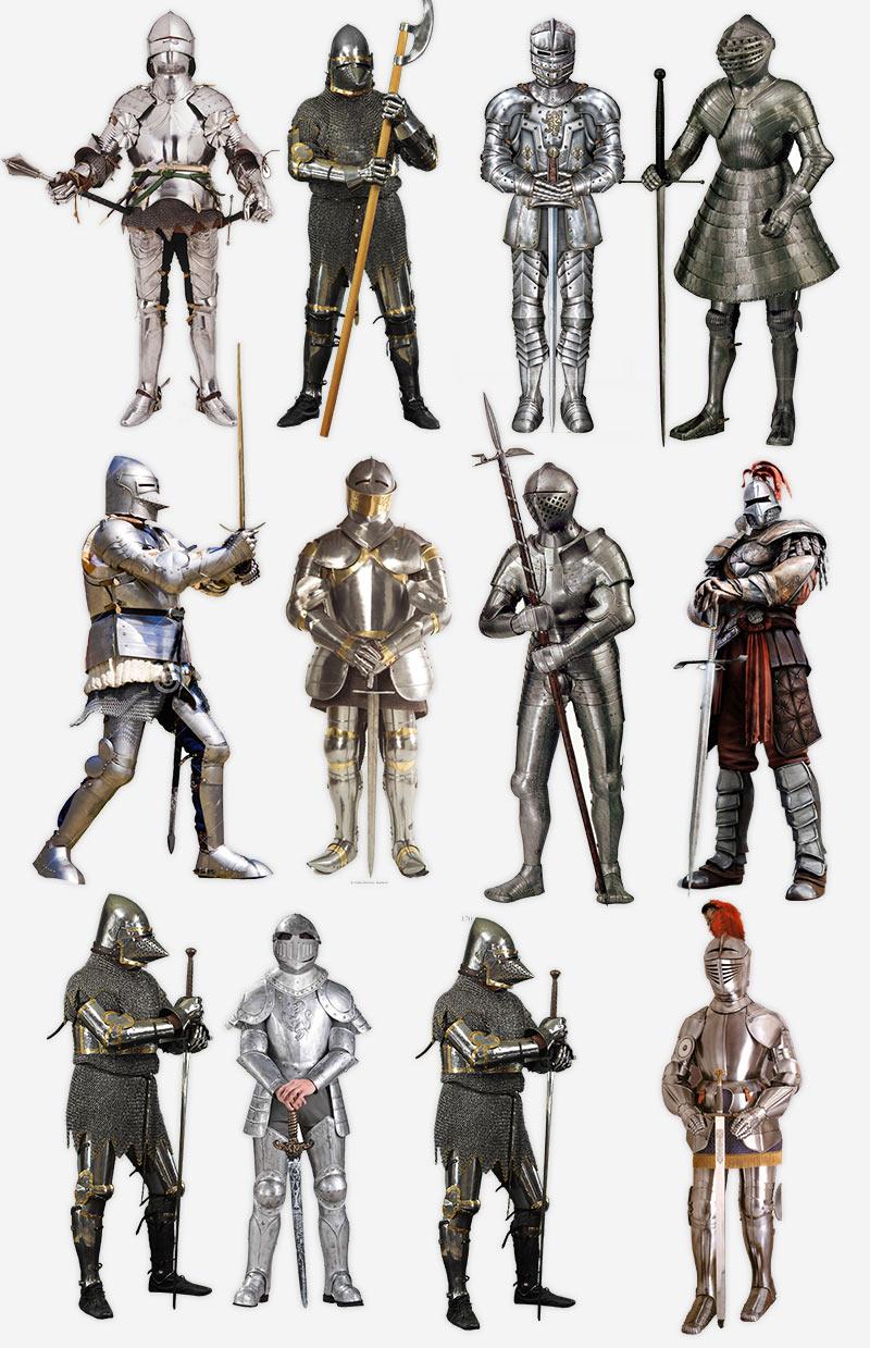 Изображения рыцарей на прозрачном фоне, PNG