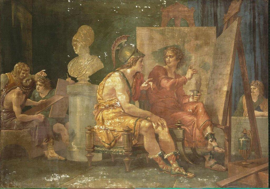 1792  Друзья. Александр Великий в мастерской Апеллеса Giuseppe Cades Джузеппе КЕЙДС.jpg