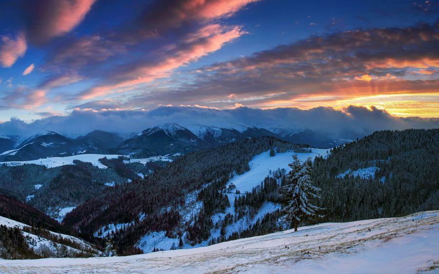 Пейзажи зимы Заставка