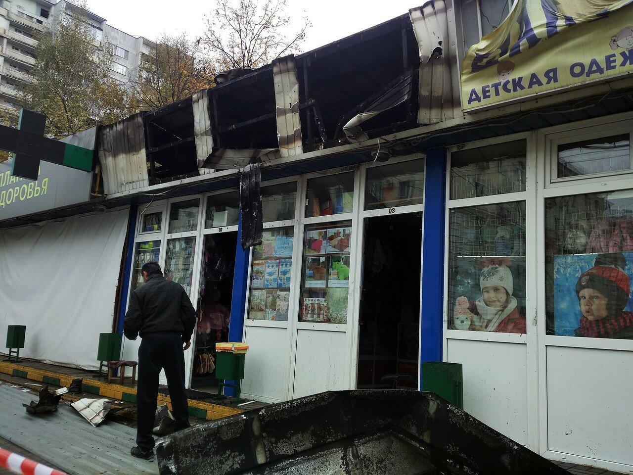 Пожар на Первомайской улице