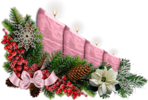 новогодние свечи