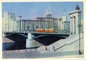 Москва. Бородинский мост. Фото Г. Петрусова. Правда, 1957, 350 тыс.jpg