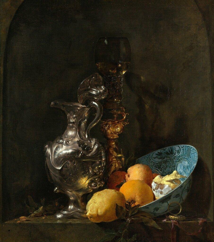 Натюрморт с лимоном, серебрянным кувшином и подсвечником (Гос музей, Амстердам).jpg