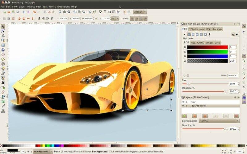 Векторный редактор Inkscape— бесплатная замена Corel Draw