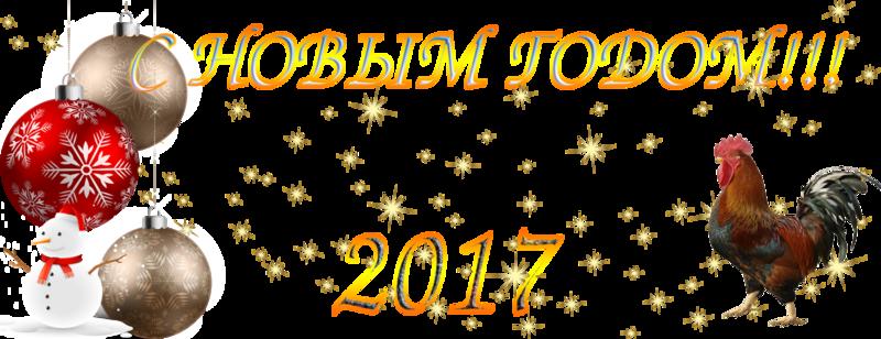 С НОВЫМ ГОДОМ !!!2017.